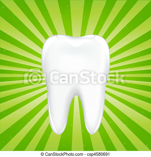 Tooth With Beams - csp4580691