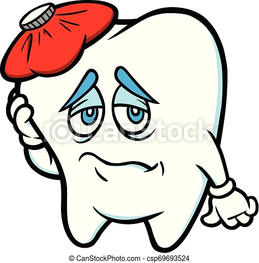 A Cartoon Illustration Of Toothache Concept