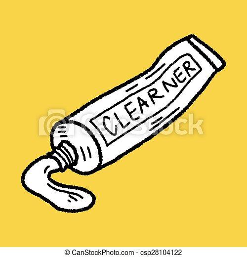 toothpaste doodle - csp28104122
