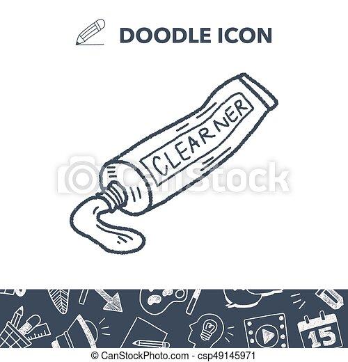 toothpaste doodle - csp49145971