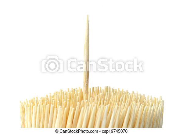Toothpick isolated on white background - csp19745070