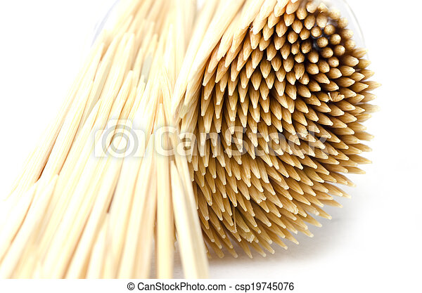 Toothpick isolated on white background - csp19745076