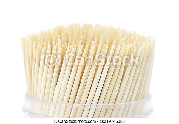 Toothpick isolated on white background - csp19745083