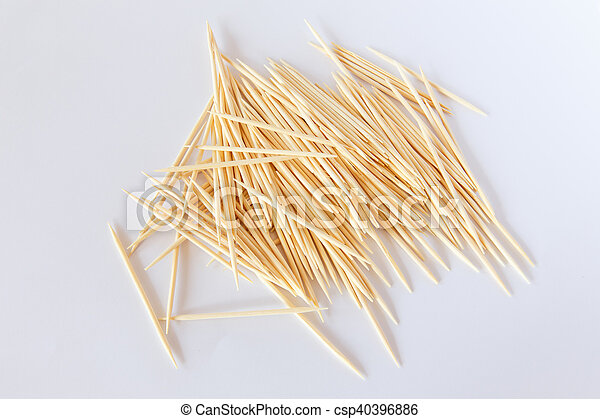 Toothpick on a white background - csp40396886