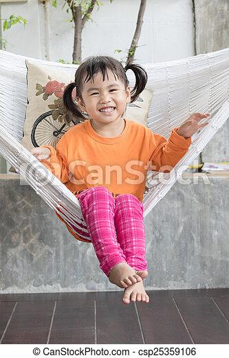 toothy, relaxante, crad, retrato, sorrindo, crianças, roupas - csp25359106