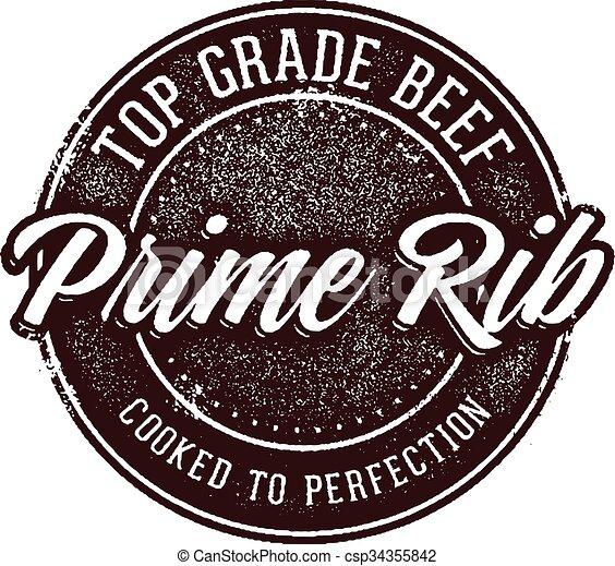 Top Grade Prime Rib Beef - csp34355842