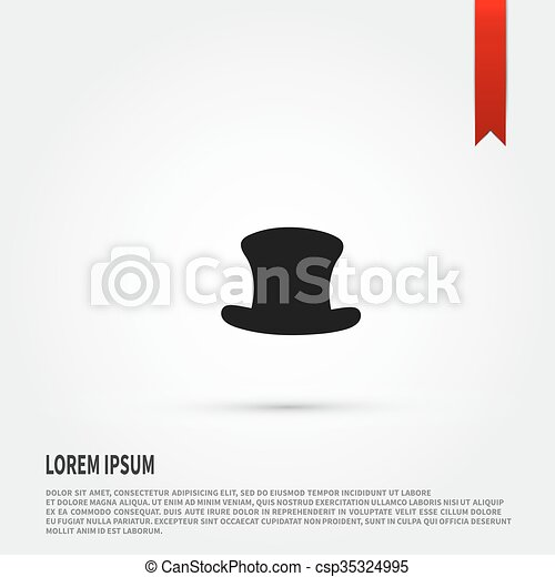 top hat icon top hat symbol flat design style template for de