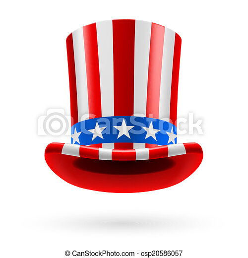 Top hat made of US flag - csp20586057