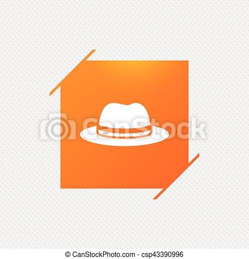 Top hat sign icon. Classic headdress symbol. - csp43390996