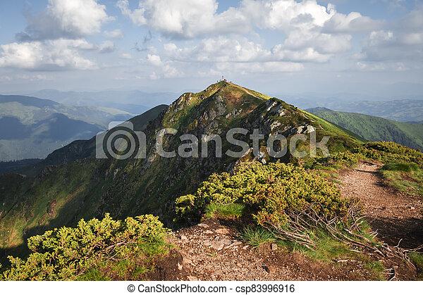 Top of Pip Ivan mountain in Maramures - csp83996916