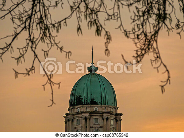 Top of Royal Castle in Budapest, capital of Hungary - csp68765342