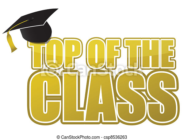 top of the class graduation - csp8536263