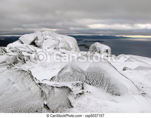 Top of the mountain - csp5037157
