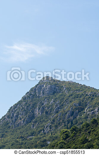 Top of the mountain - csp51855513
