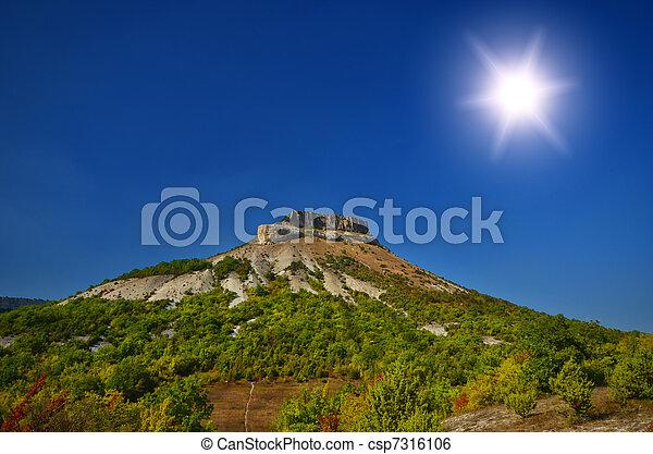 top of the mountain - csp7316106