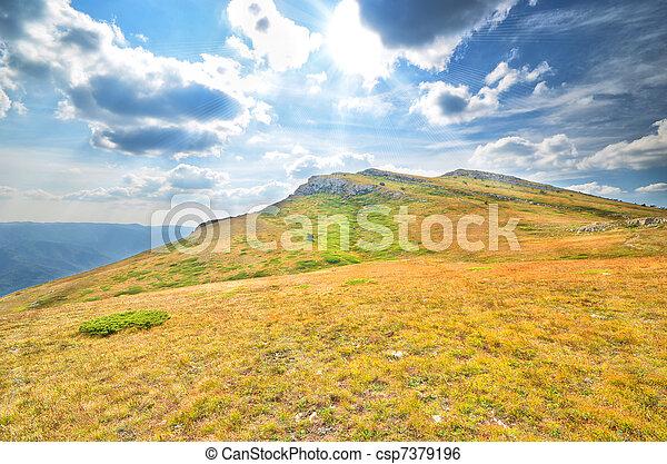 top of the mountain - csp7379196