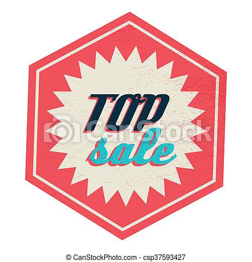 Top sale label, vintage style - csp37593427