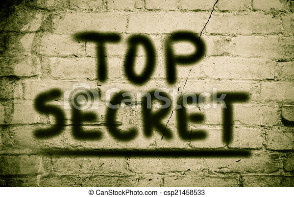 Top Secrect Concept - csp21458533