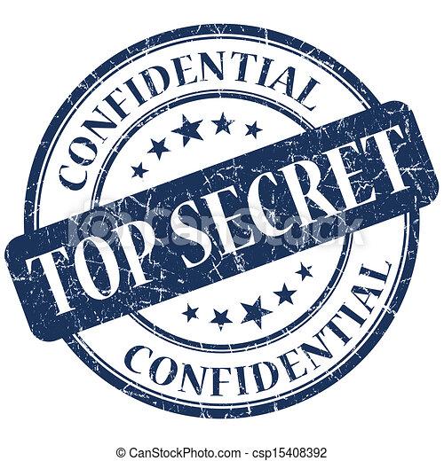Top Secret blue stamp - csp15408392