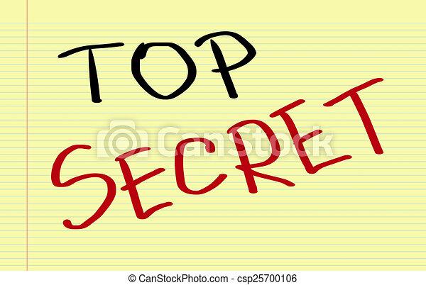Top Secret Concept - csp25700106