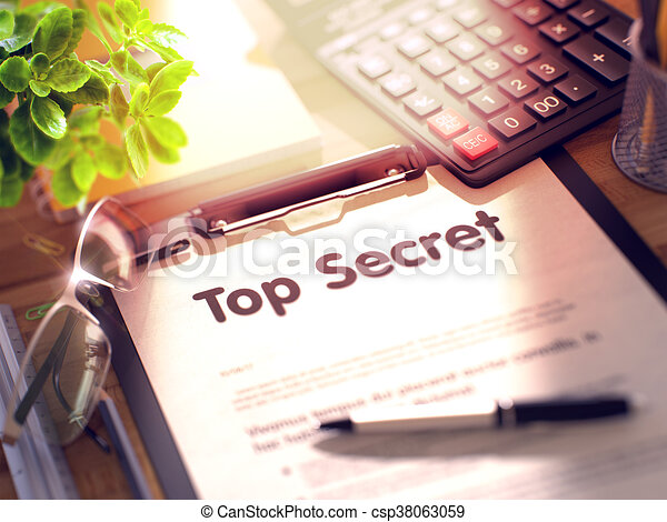 Top Secret Concept on Clipboard. - csp38063059