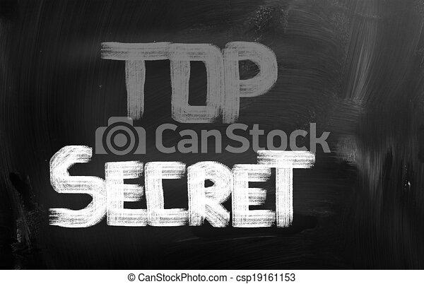Top Secret Concept - csp19161153