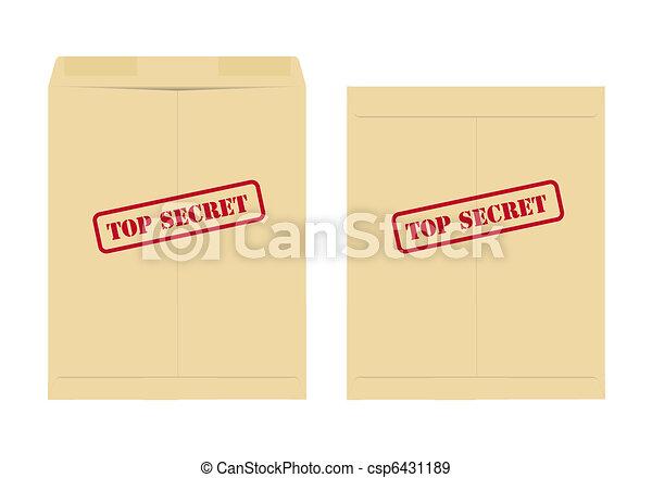 Top secret envelope - csp6431189