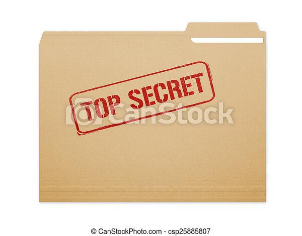 Top Secret Folder - csp25885807