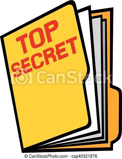 top secret folder vectors illustration search clipart drawings rh canstockphoto com top secret mission clipart top secret stamp clipart