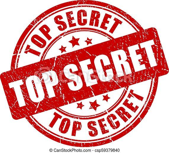 Top secret grunge stamp - csp59379840