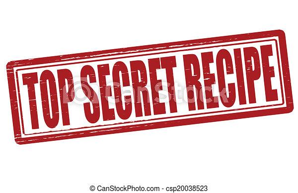 Top secret recipe - csp20038523