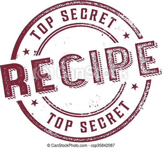 Top Secret Recipe Menu Stamp - csp35842087