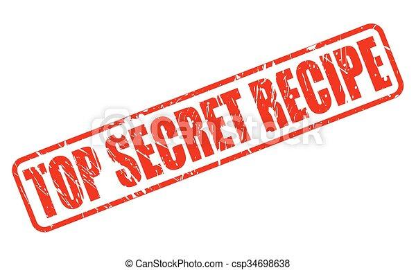 Top secret recipe RED STAMP TEXT - csp34698638