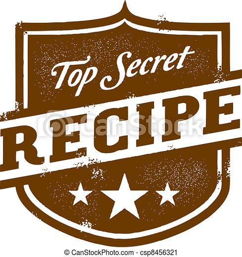Top Secret Recipe Vintage Graphic Vector Clip
