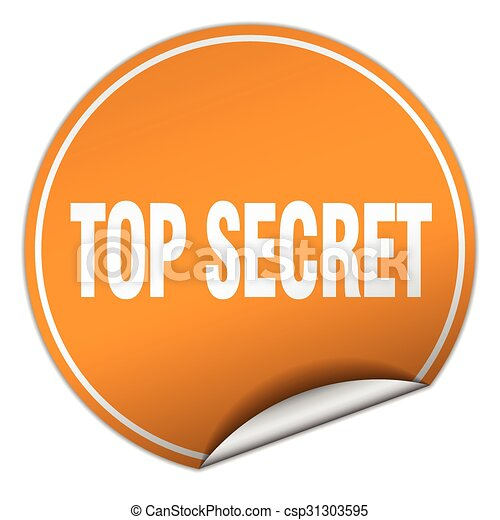 top secret round orange sticker isolated on white eps vectors rh canstockphoto ca top secret clip art free top secret file clipart
