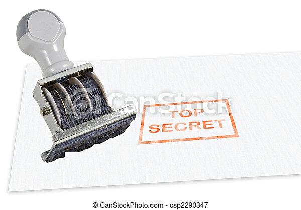 Top Secret Rubber Stamp - csp2290347
