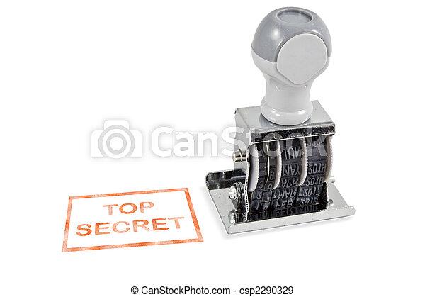 Top Secret Rubber Stamp - csp2290329