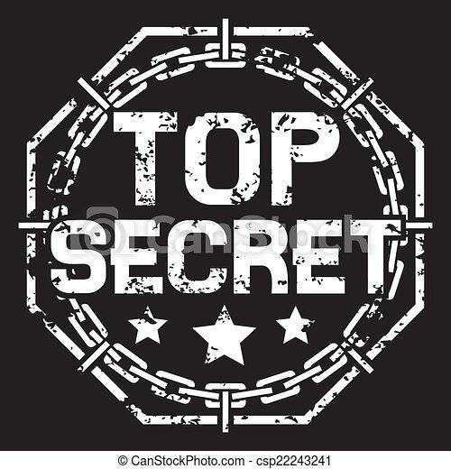 top secret stamp - csp22243241