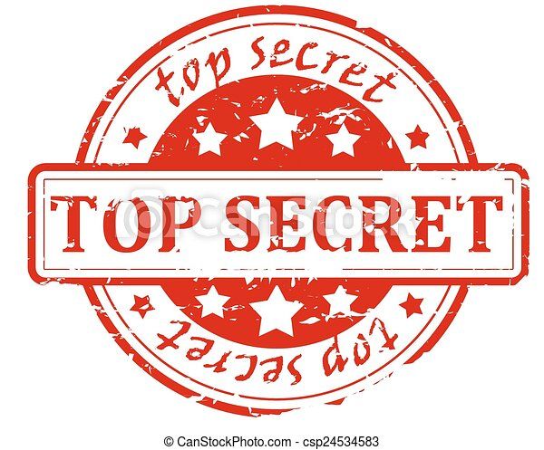 Top secret - stamp - csp24534583
