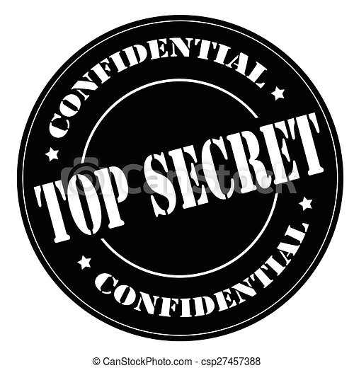 Top Secret Stamp Black With Text Secretvector Illustration