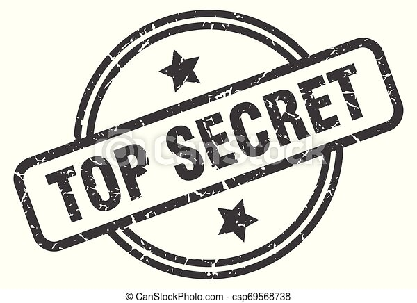 top secret stamp - csp69568738