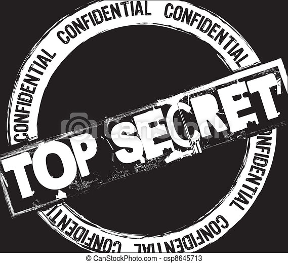 top secret stamp - csp8645713