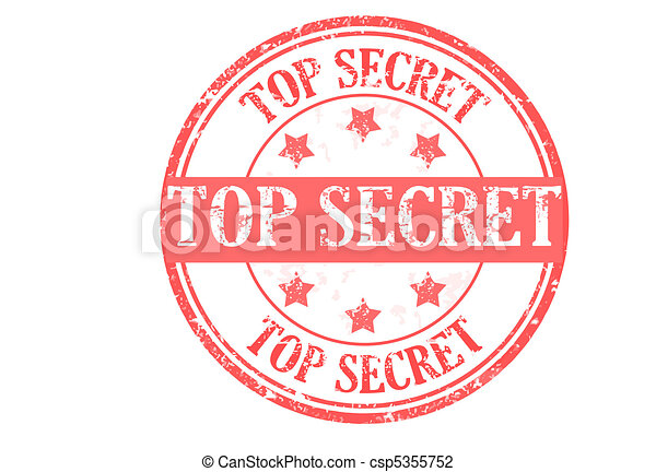 Top Secret Stamp Grunge Rubber Vector Illustration