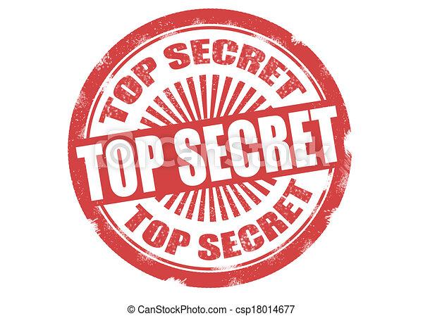 top secret stamp - csp18014677