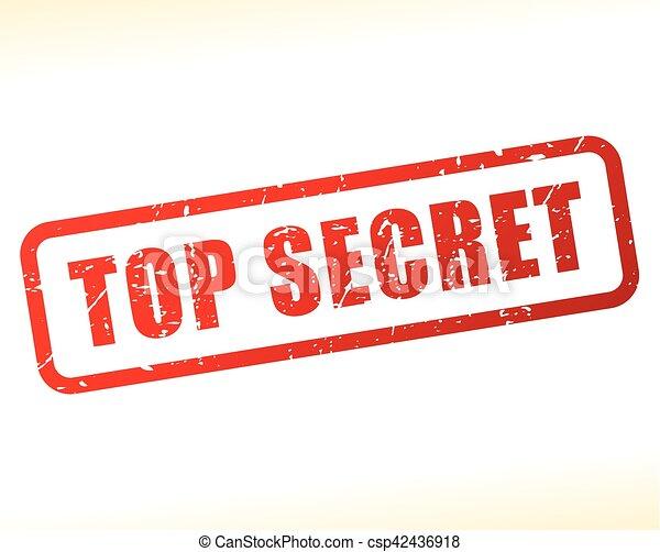 top secret stamp - csp42436918