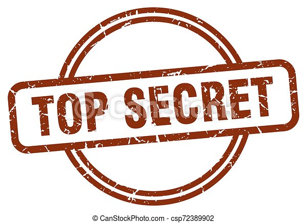 top secret stamp - csp72389902