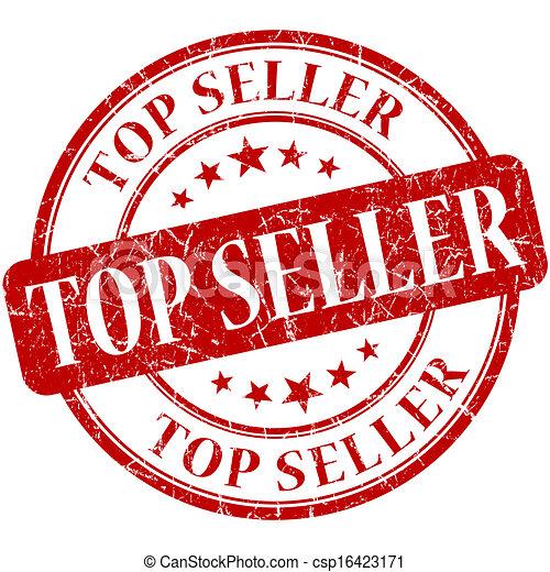 Top seller grunge round red stamp - csp16423171