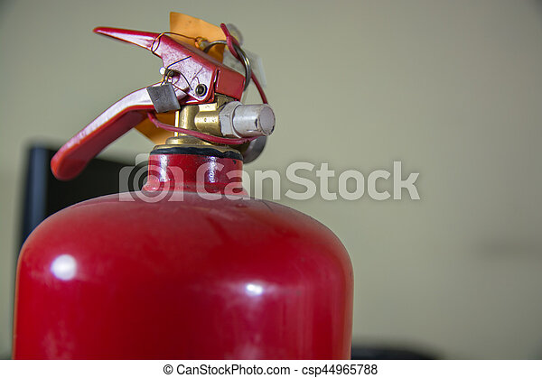 Top Side of Fire Extinguisher. - csp44965788