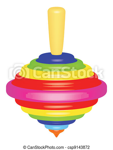 bright top toy over white vector illustration rh canstockphoto com top clipart images top clipart sites