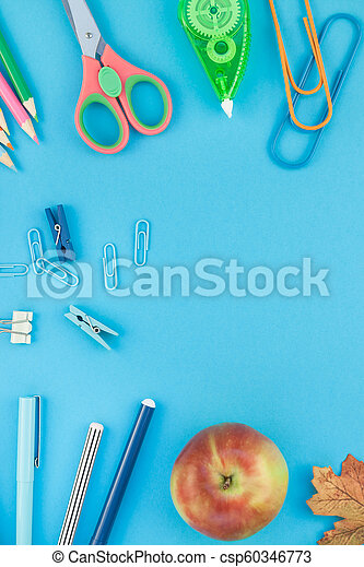Top view back to school concept - csp60346773